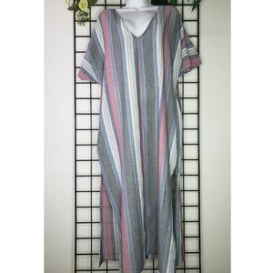 Tavik+ Striped Maxi Dress Berry Stripe Medium
